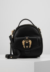 Versace Jeans Couture - BAROQUE BUCKLE MINI BACKPACK - Batoh - black - 0