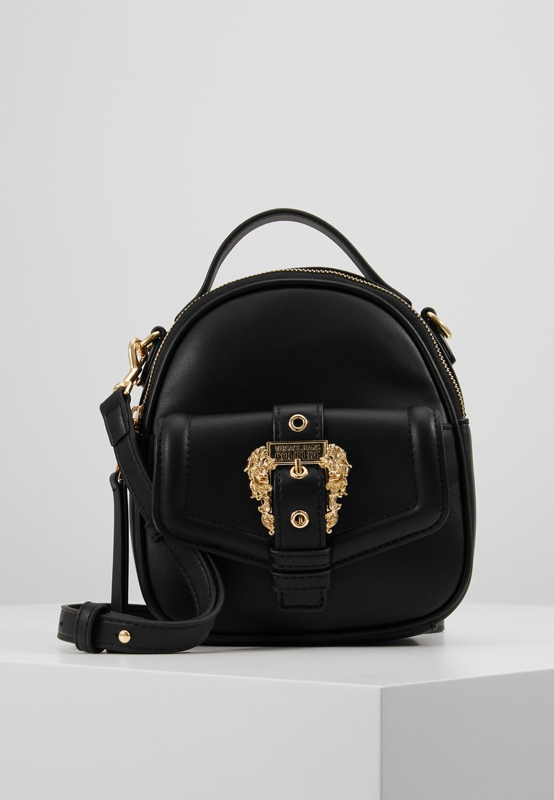 Versace Jeans Couture - BAROQUE BUCKLE MINI BACKPACK - Batoh - black