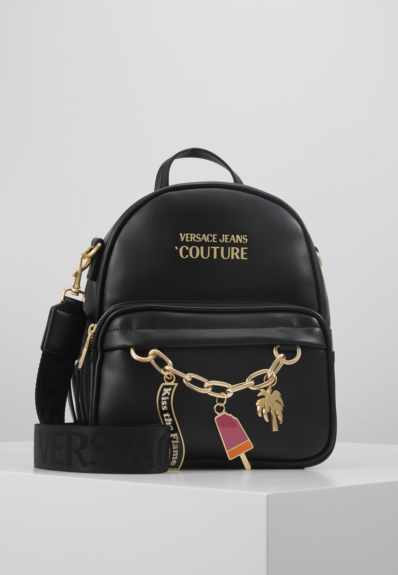 Versace Jeans Couture - MINI BACKPACK W/CHARMS - Tagesrucksack - nero