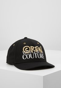 Versace Jeans Couture - MID VISOR EMBROIDERY  - Keps - black - 0