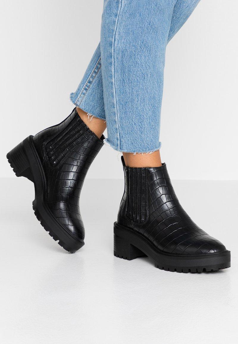 Vero Moda Wide Fit - WIDE FIT VMLISA - Ankle Boot - black