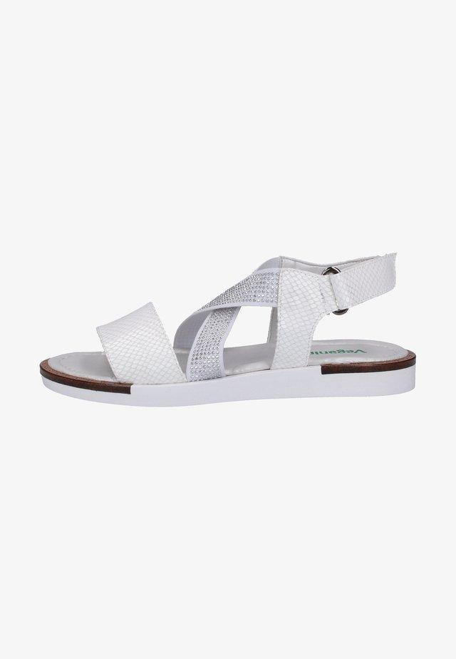 Sandales - silver/white