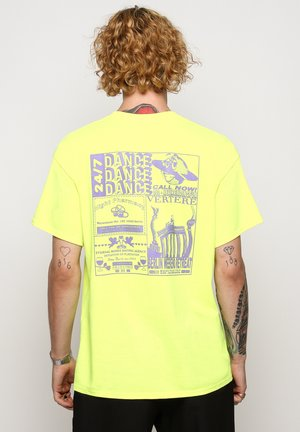 T-shirt med print - neon yellow