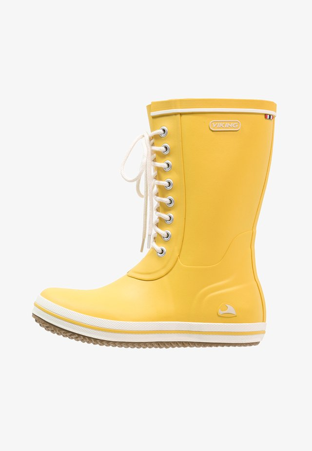 RETRO LIGHT - Bottes en caoutchouc - yellow