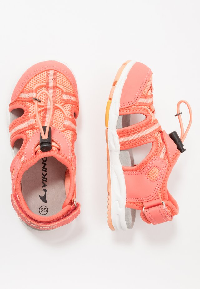 THRILL - Walking sandals - coral/antiquerose