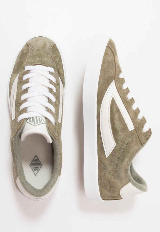RETRO TRIM - Zapatillas de entrenamiento - olive/eggshell