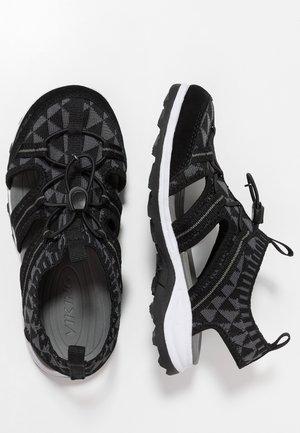 ULVIK - Chodecké sandály - black/charcoal