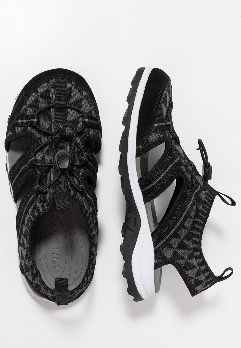 Viking - ULVIK - Walking sandals - black/charcoal