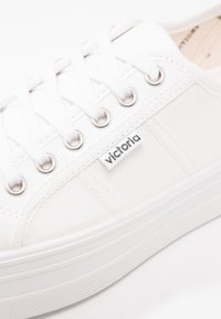 Victoria Shoes - BASKET LONA PLATAFORMA - Sneakers laag - blanco - 2
