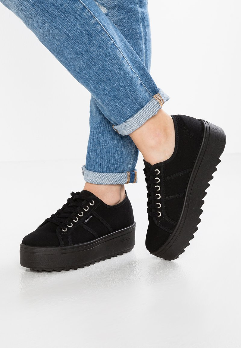 Victoria Shoes - BASKET LONA - Trainers - black