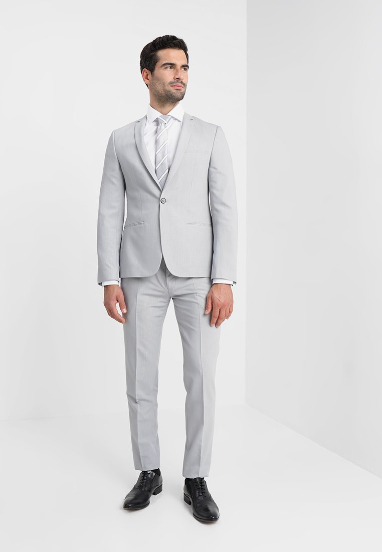 Viggo - BERLIN SUIT SLIM FIT - Kostym - light grey