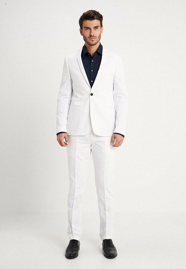 MALMO SUIT SLIM FIT - Suit - white