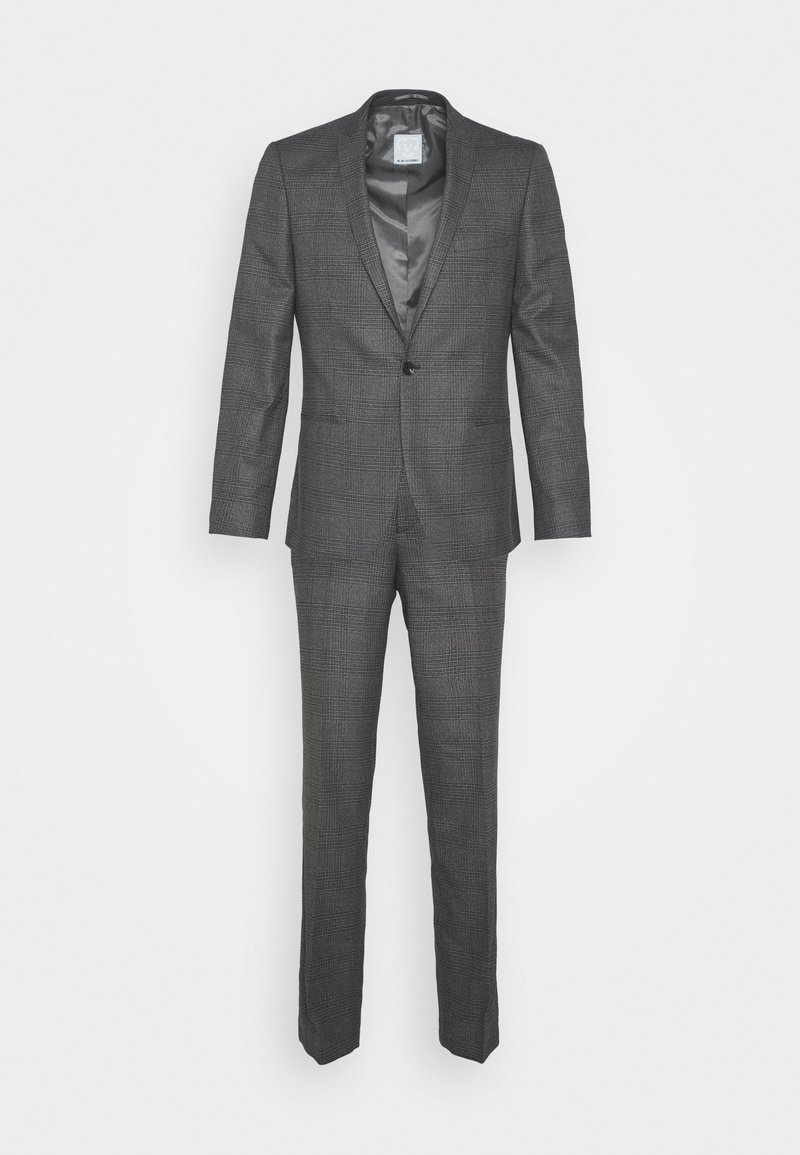 Viggo - CHECK - SLIM FIT SUIT - Completo - charcoal
