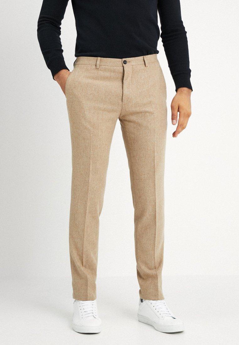 Viggo - SUNDSVALL TROUSERS SLIM FIT - Trousers - light camel
