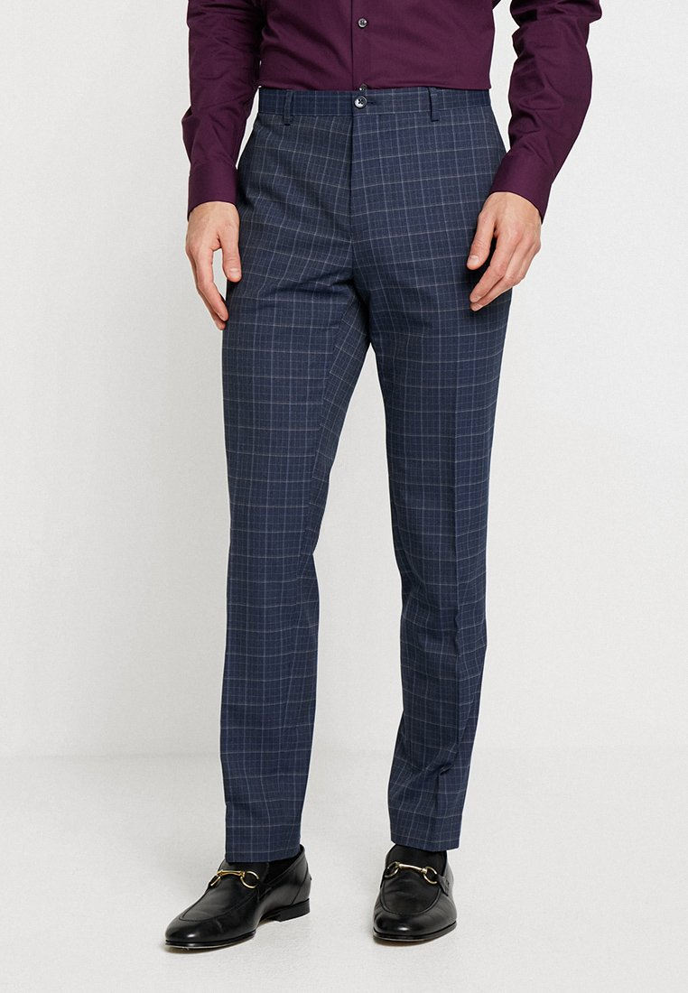 Viggo - FALUN TROUSERS SLIM FIT - Suit trousers - blue