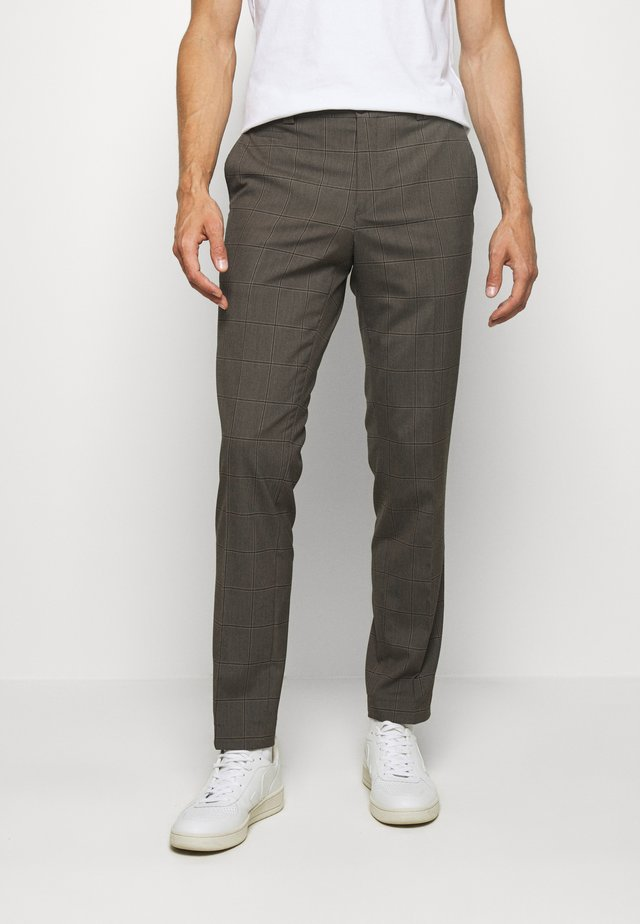 TROUSER - Trousers - brown