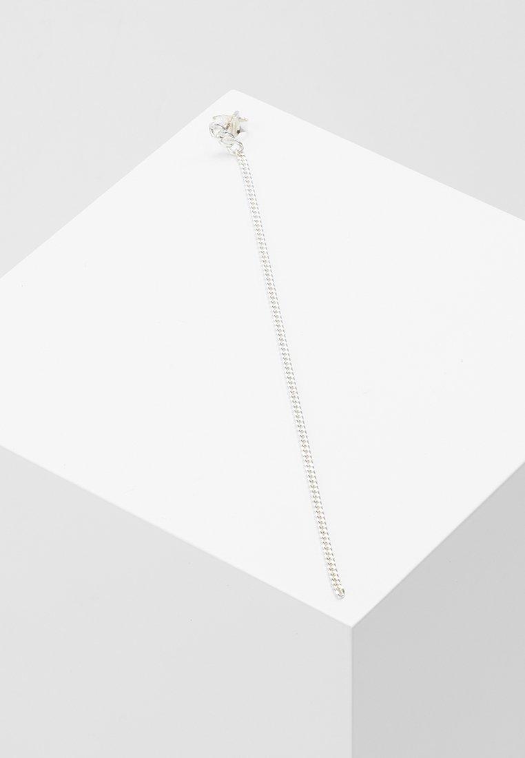 Vibe Harsløf - EARRING HANGING CHAIN SINGLE - Earrings - silver