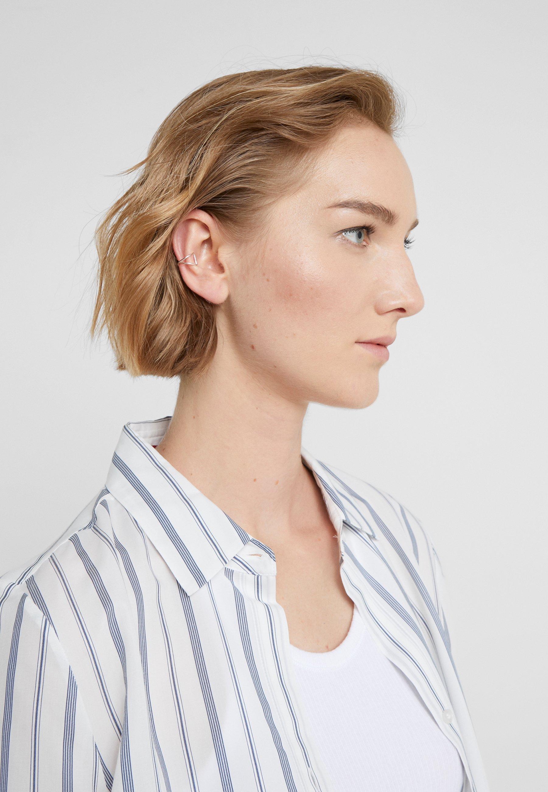 Vibe Harsløf ANNA EARCLIC - Øreringe - silver-coloured