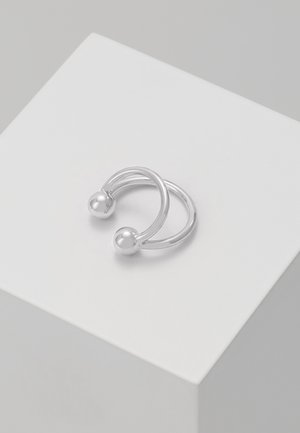 ANNA EARCLIP DOUBLE RINGS - Náušnice - silver-coloured