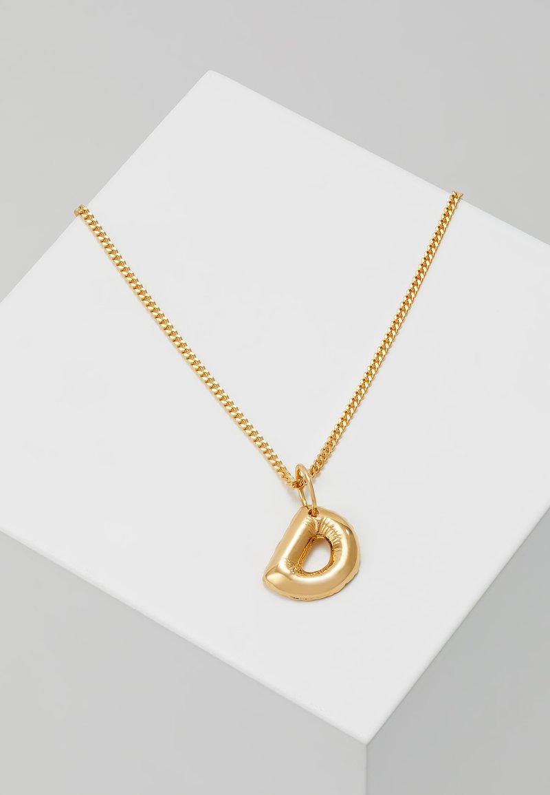 Vibe Harsløf - NECKLACE BALLOON LETTER PENDANT D - Halskæder - gold-coloured
