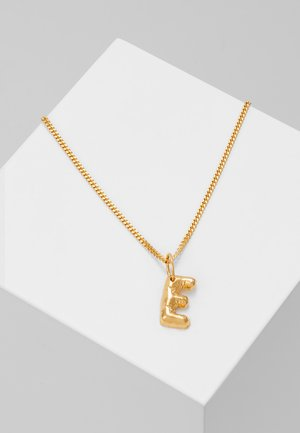 NECKLACE BALLOON LETTER PENDANT E - Halskette - gold-coloured