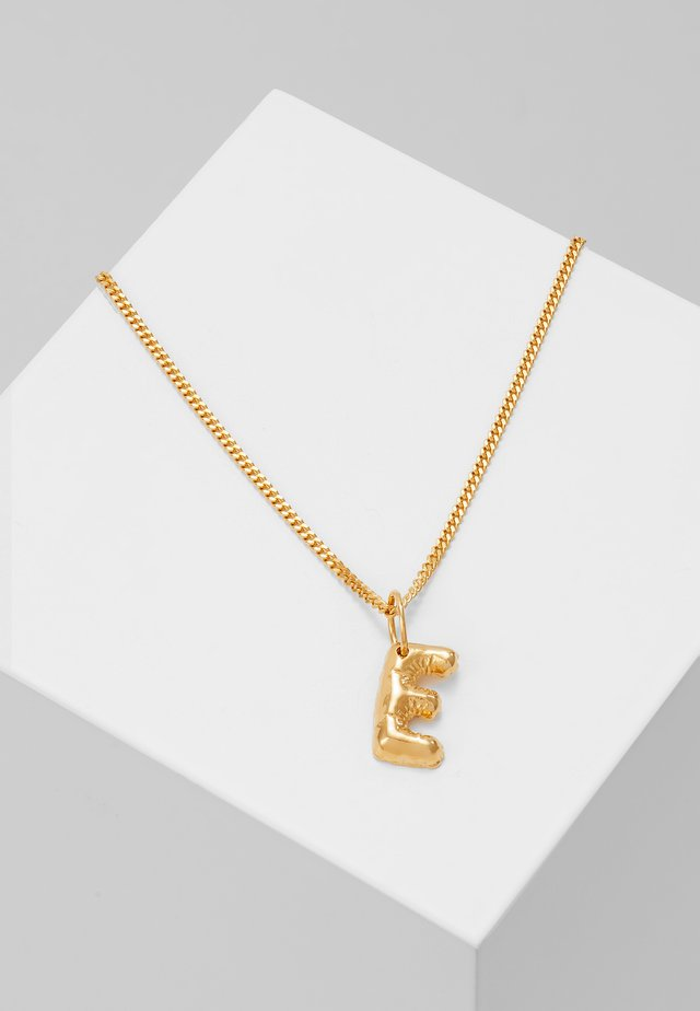 NECKLACE BALLOON LETTER PENDANT E - Ketting - gold-coloured