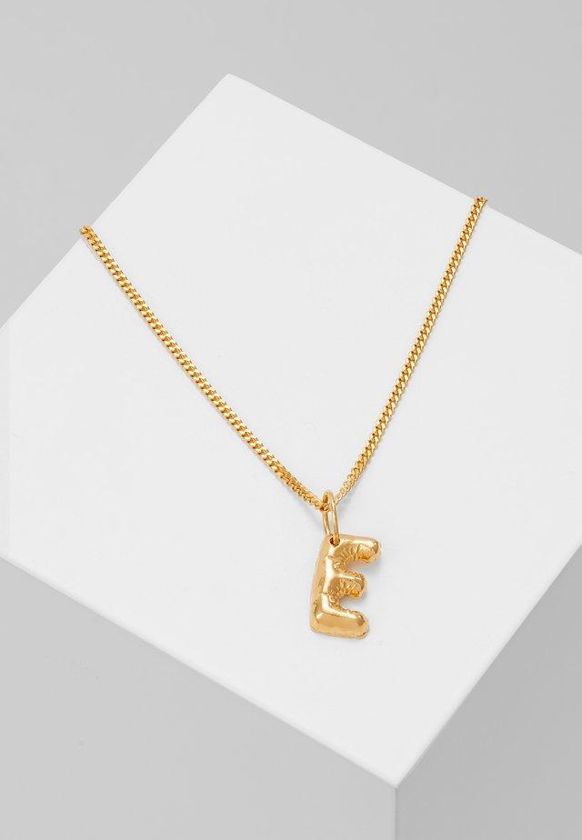 NECKLACE BALLOON LETTER PENDANT E - Halskette - gold-coloured