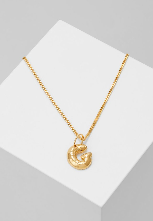 NECKLACE BALLOON LETTER PENDANT G - Collier - gold-coloured