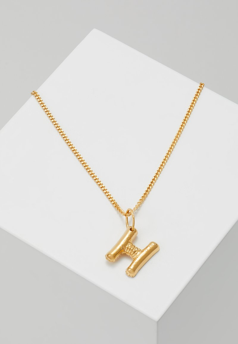 Vibe Harsløf - NECKLACE BALLOON LETTER PENDANT H - Ketting - gold-coloured