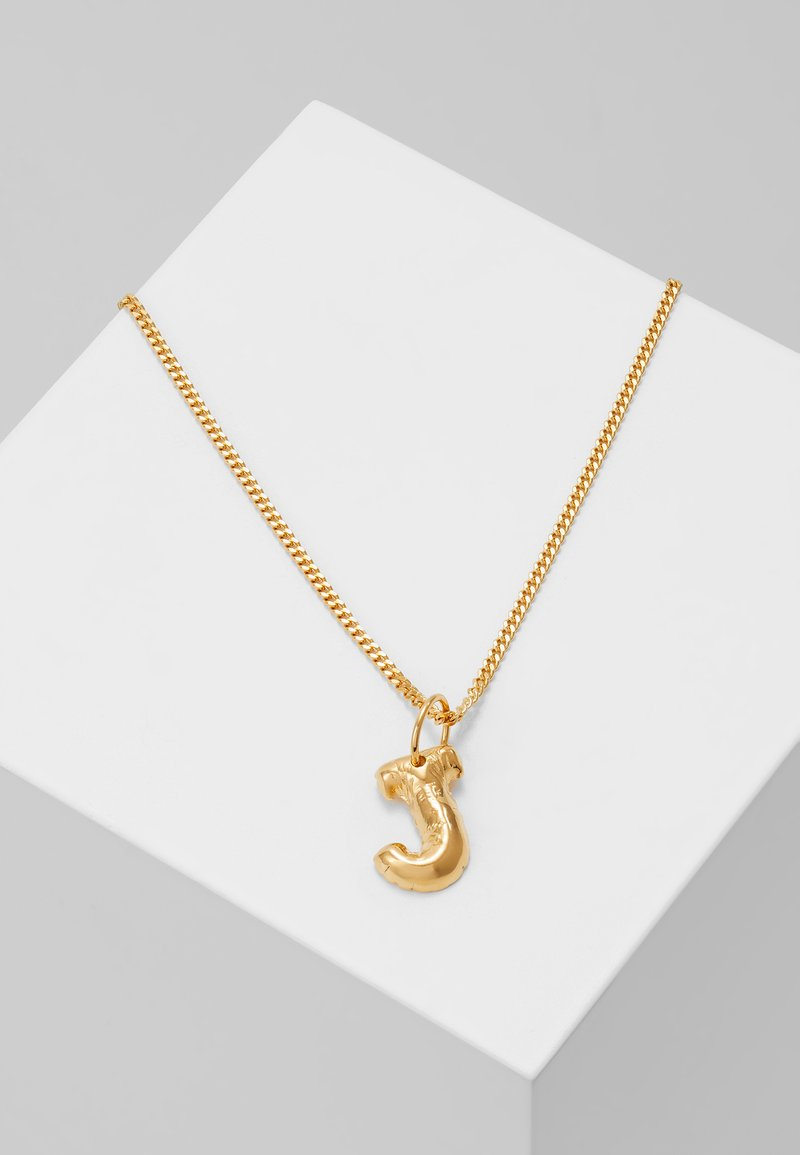 Vibe Harsløf - NECKLACE BALLOON LETTER PENDANT J - Halskette - gold-coloured