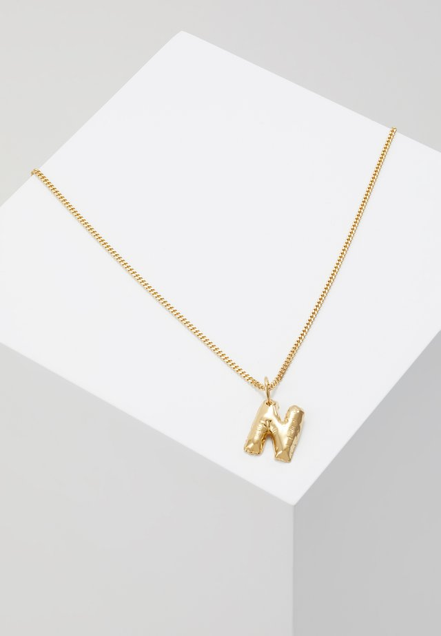 NECKLACE BALLOON LETTER PENDANT - Collana - gold