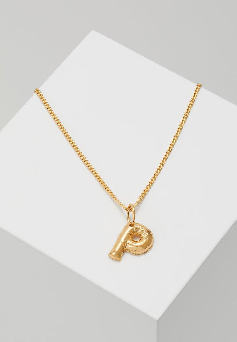Vibe Harsløf - NECKLACE BALLOON LETTER PENDANT P - Halskette - gold-coloured