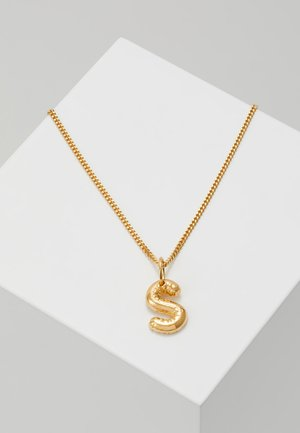 NECKLACE BALLOON LETTER PENDANT S - Halsband - gold-coloured