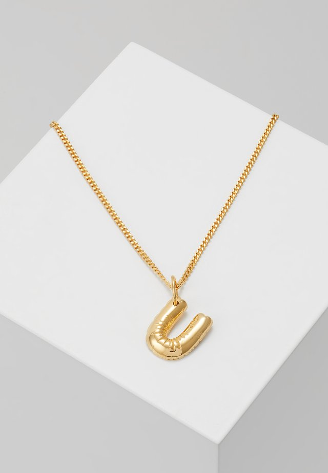 NECKLA BALLOON LETTER PENDANT U - Necklace - gold-coloured