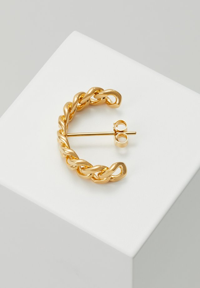 HOOP CHAIN LARGE  - Earrings - gold