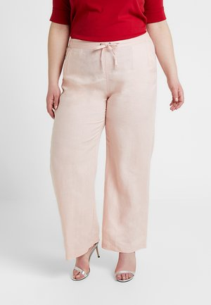 WIDE LEG PANT - Trousers - coral buff