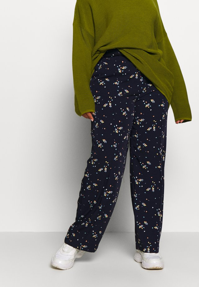 WHIMSICAL PETALS WIDE LEG PANT - Broek - caviar