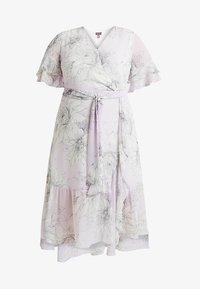Vince Camuto Plus - TIERED RUFFLE BLOSSOMS WRAP DRESS - Maxi šaty - fresh lilac - 4