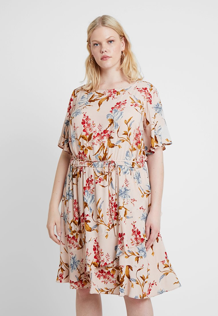 Vince Camuto Plus - RUFFLE WAIST DRESS - Sukienka letnia - peach bellini