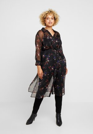 COUNTRY BOUQUET BELTED - Abito a camicia - rich black