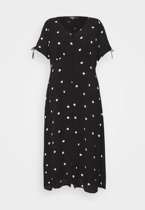 POLKA DOTS MAXI DRESS - Maxi šaty - black