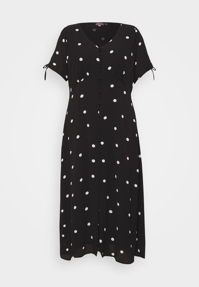 POLKA DOTS MAXI DRESS - Maxi-jurk - black