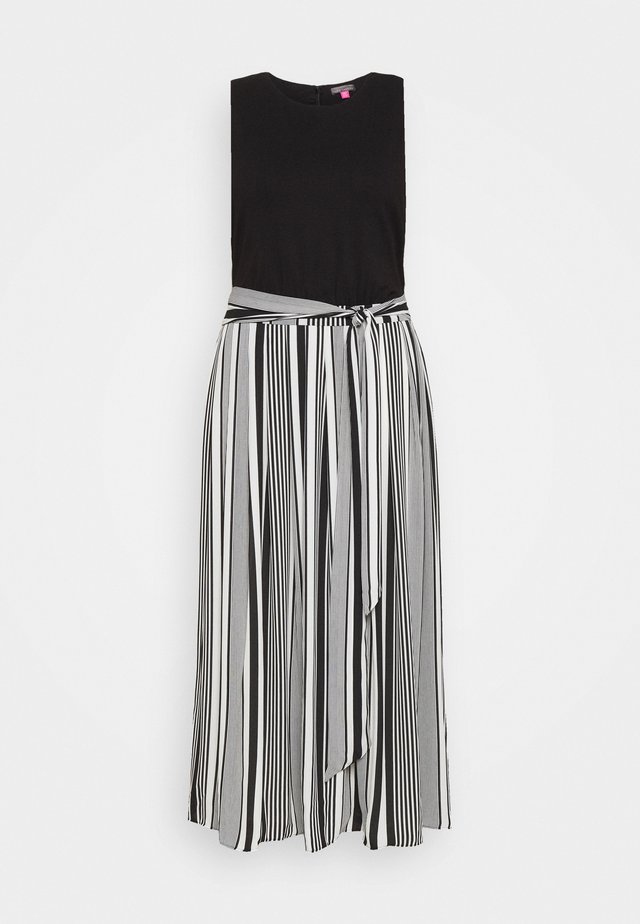 VARIAGATED STRIPE BELTED DRESS - Maxi-jurk - black