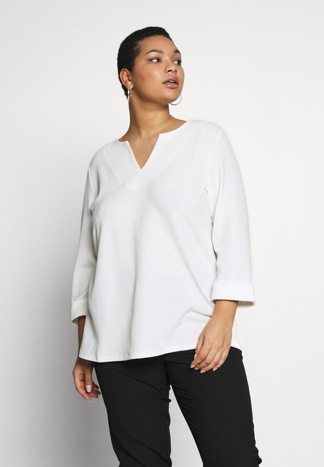 SPLIT TOP - Blusa - white