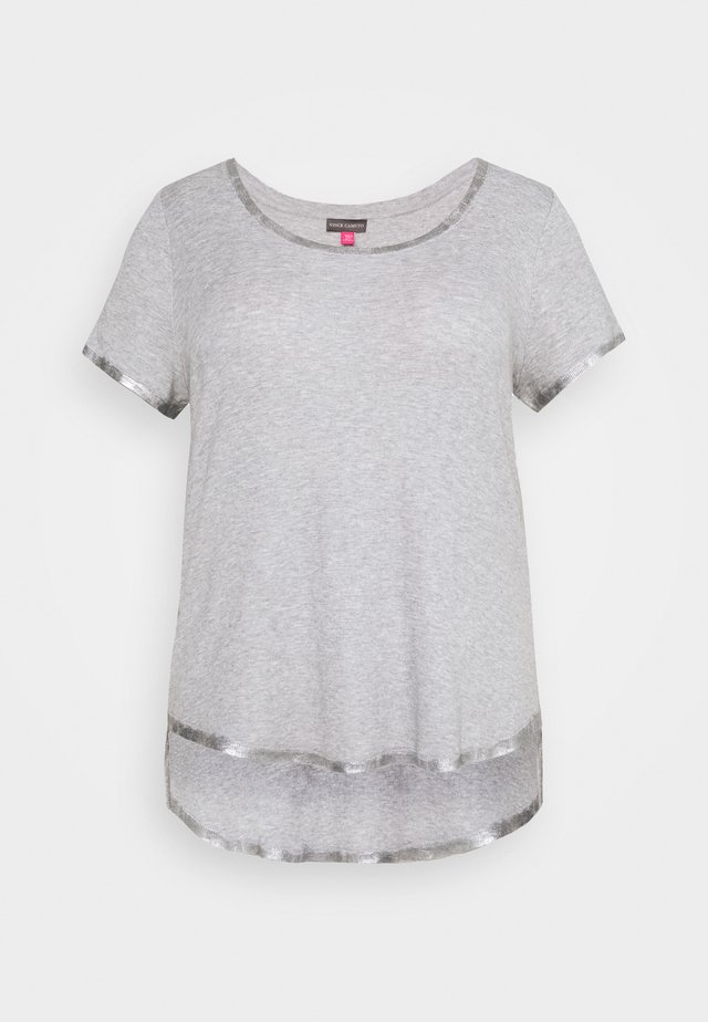 SCOOP TEE - T-shirts basic - silver