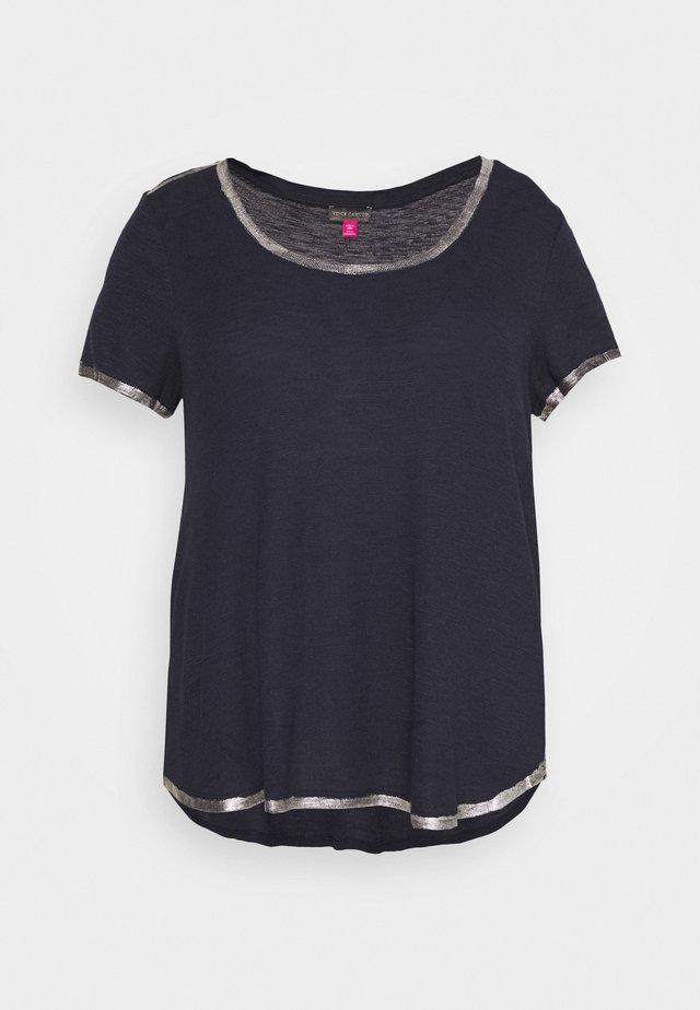 SCOOP TEE - T-shirt - bas - dark blue