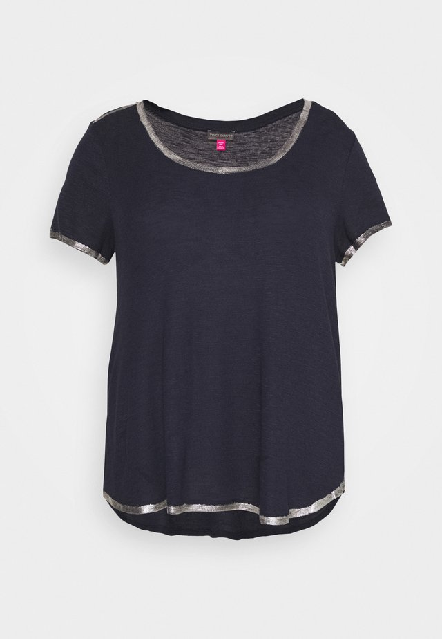 SCOOP TEE - Basic T-shirt - dark blue