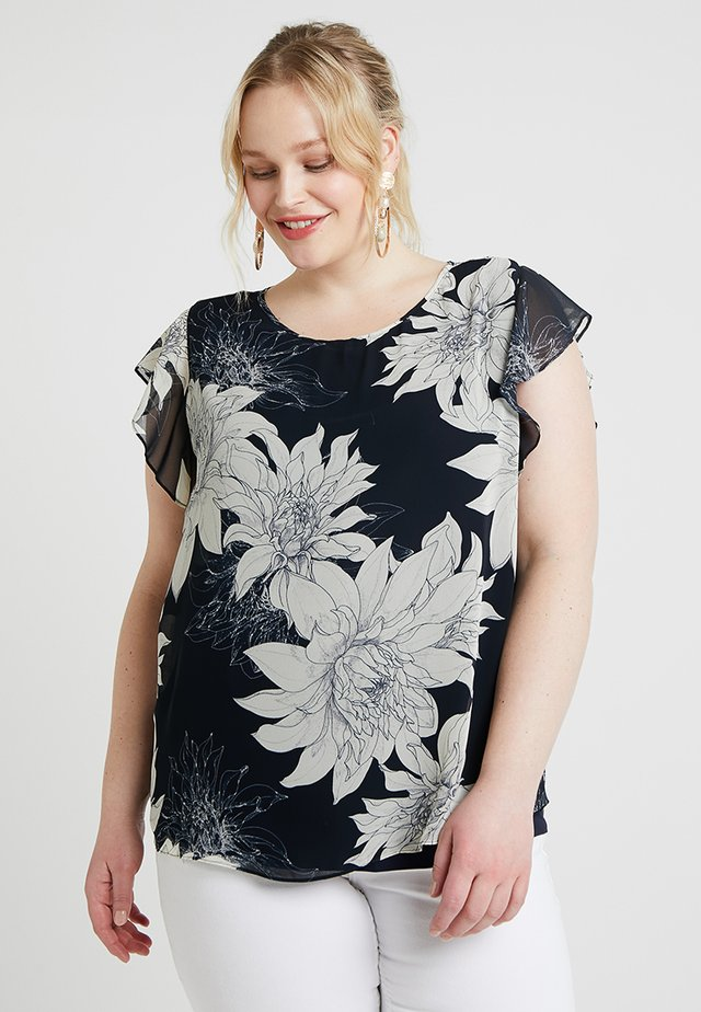 FLUTTER PAGODA BLOSSOMS OVERLAY - Blus - classic navy