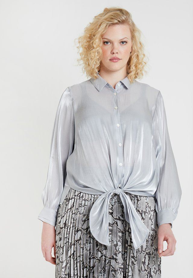 DOWN TIE IRIDESCENT - Bluse - silver dust