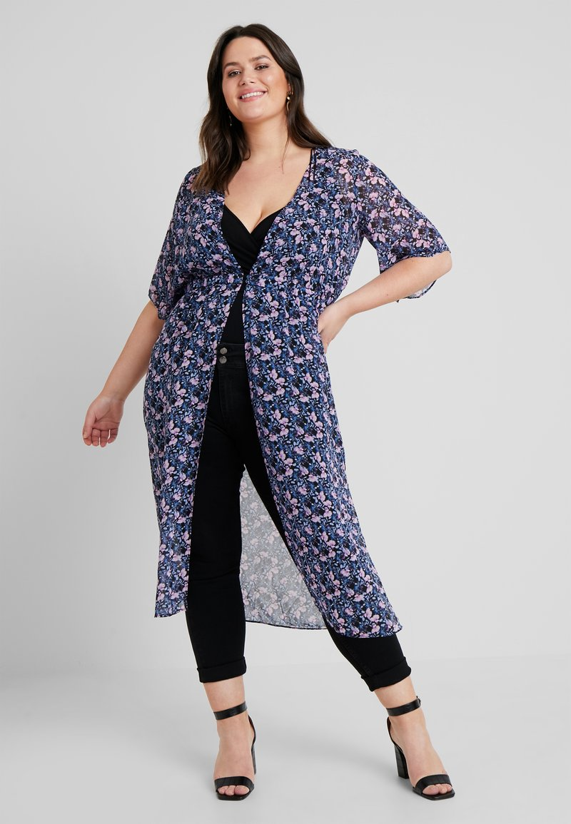 Vince Camuto Plus - CHARMINGFLORAL MAXI DUSTER - Bluser - classic navy